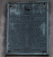 American Revolutionary Soldiers in the Old Burying Ground