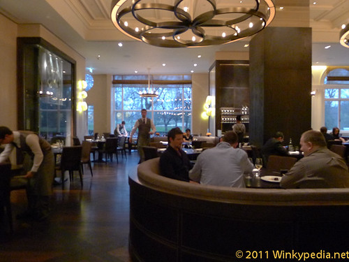 Dining area at Dinner by Heston