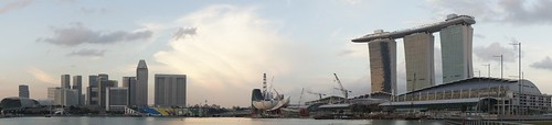 Panorama of Marina Bay