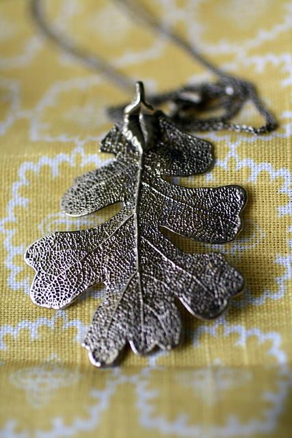 Silver Dipped Oak Leaf