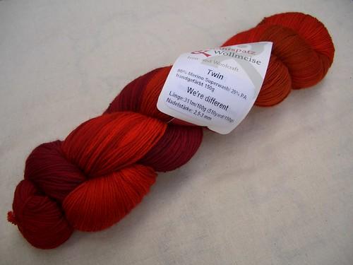 Wollmeise Twin Indisch Rot (Spiralen) WD