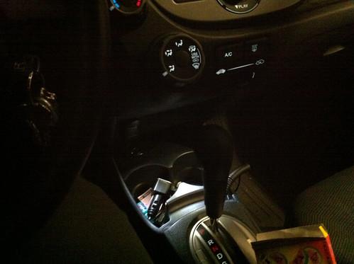 DIY LED cupholder Honda Fit ge8