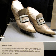 Bess Truman's Wedding Shoes at the Truman Presidential Museum