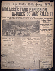 Molasses tank explosion injures 50 and kills 1...