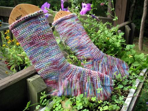 Faceted Rib Socks