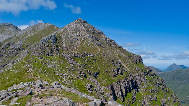 Atop the summit ridge