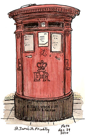 piccadilly postbox