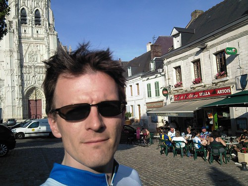 In Saint-Riquier (another beer stop before reaching Abbeville)