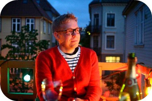Walter på verandaen