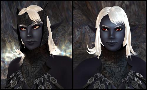 female dark elf - mask detail