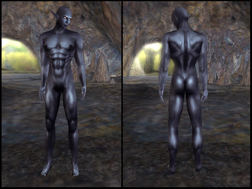 male dark elf - skin detail