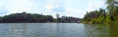 Saluda Lake Dam Panorama