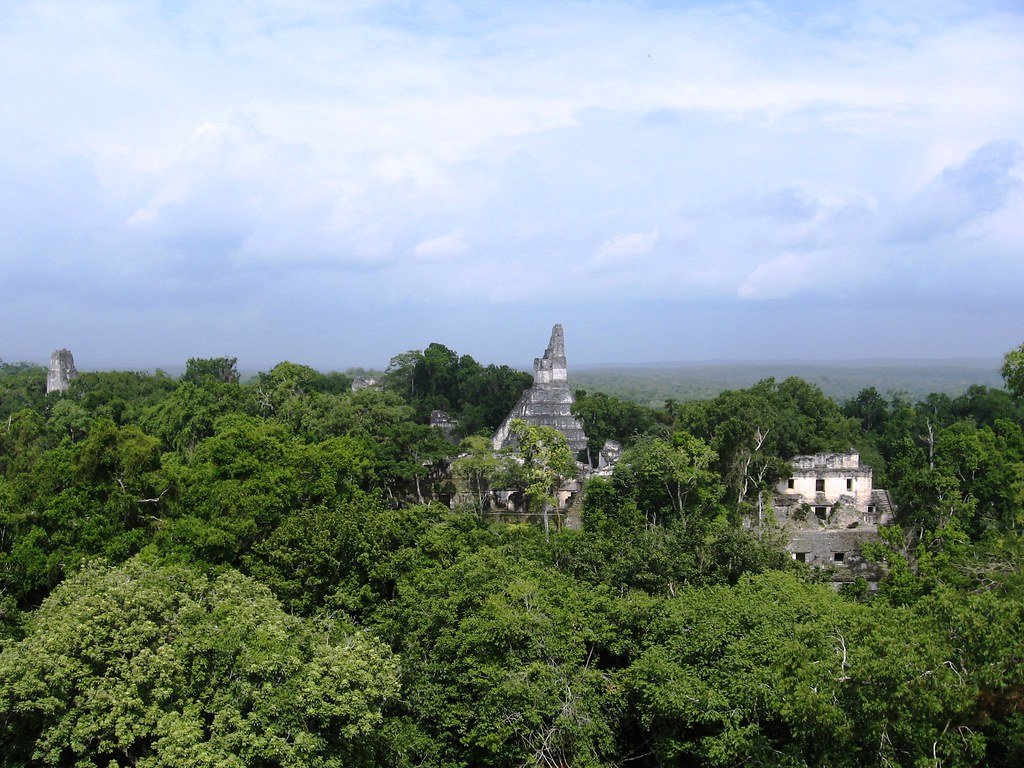 Tikal from above the canopy; November 2009