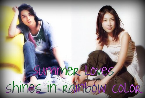 Summer loves shines in rainbow color