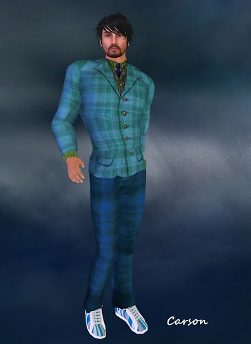 DA Tomcat Plaid suit (Blue) $10L BM Skate Shoe Stripey - mens