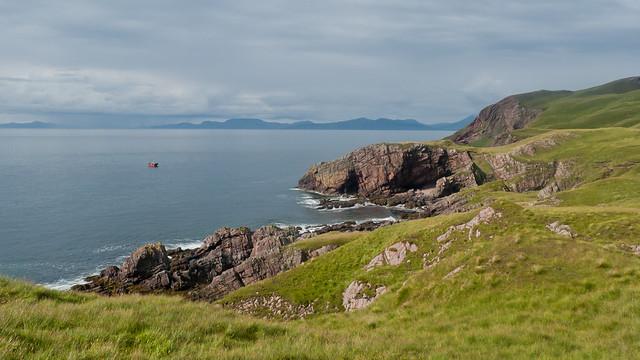 The rugged coastline of Rum