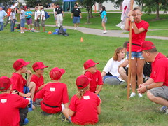 8-10 year-olds participate in various events at the 2010 Wisconsin National Guard Youth Camp