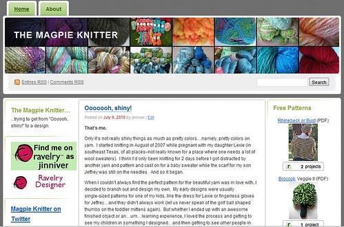 magpie knitter screen shot