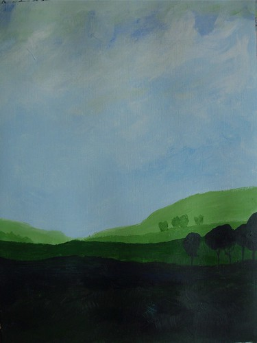 "Art practice: ""Blue Sky, Green Fields"" (7 of 7)"