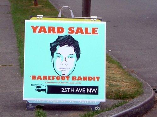 Barefoot Bandit Yard Sale