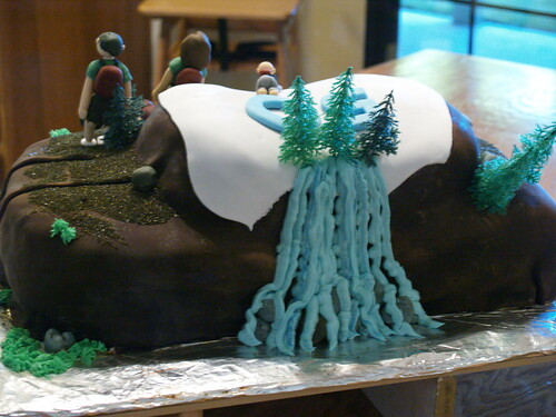 Finished cake, back side