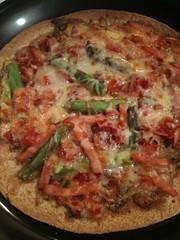 Asparagus Pizza Baked