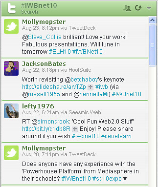 #iwbnet10 example tweets