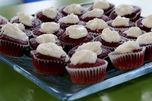 Sunday: Red Velvet Cupcakes for Baby Jayne's birthday