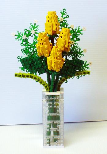 Yellow Quartet of Roses 1