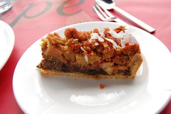 Pastel de ruibarbo del Ofelia Restaurant