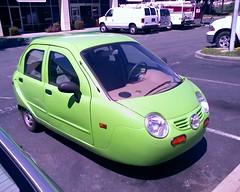 Zap! 4 door, 3 wheel, electric car, right front quarter