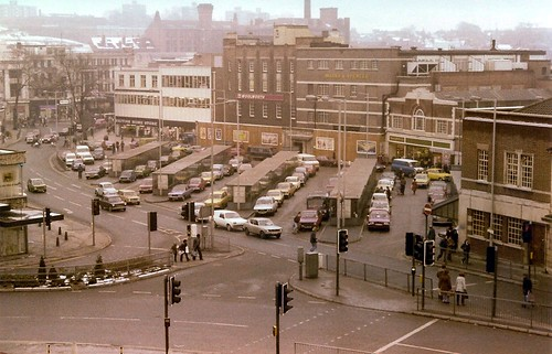 Walsall Bus Station is a car park, 1978