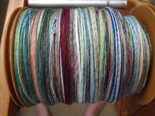 Full bobbin - juliespins sw merino in Jungle