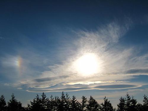 Sun and a rainbow