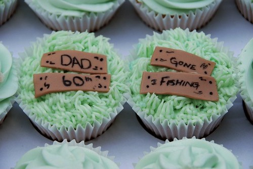 Cirencester Cupcakes - Gone Fishing Birthday Cupcakes