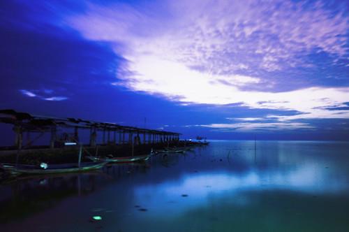 Kenjeran beach at dawn