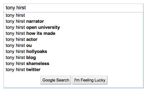 google impact - tony hirst