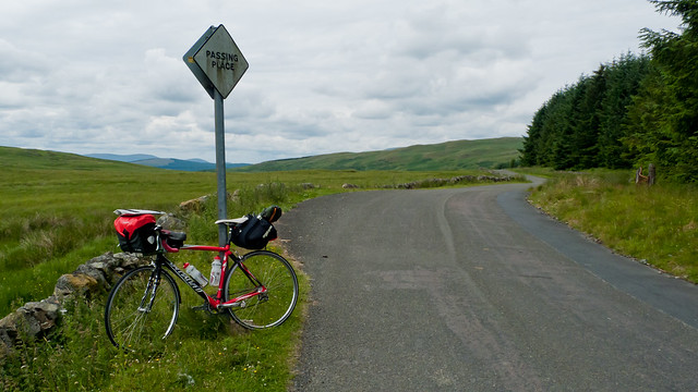 My bike at the top of the pass