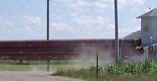 Truck hauling 36-inch Pipe to build Keystone-C...
