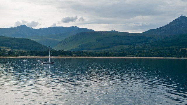 Arran and Brodick Bay, from the Arran ferry