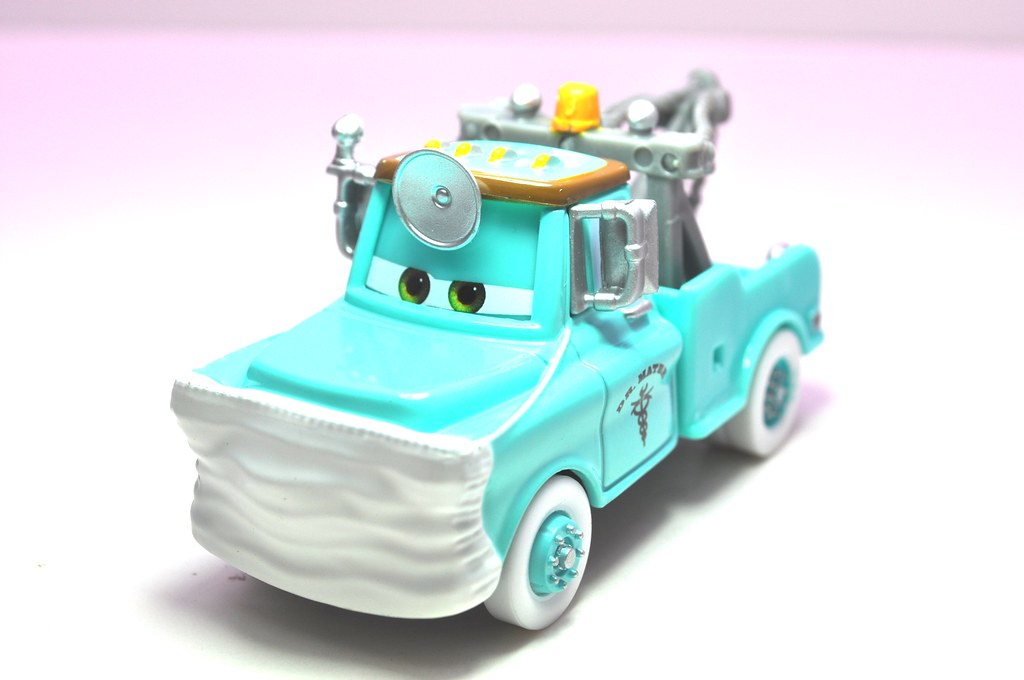 disney cars cars toon dr. mater with mask up (2)