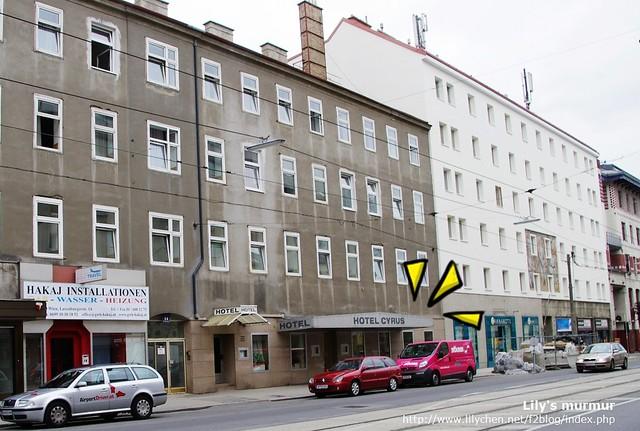 Hostel Birg-Cyrus的外觀,非常不起眼。請注意,是Hostel不是Hotel喔!等級有差別的。