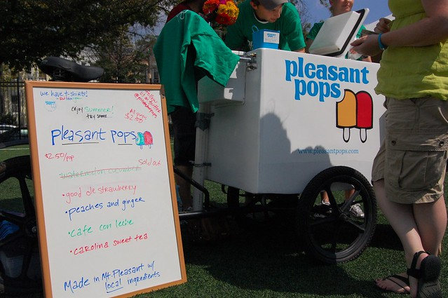 Pleasant Pops Cart at Columbia Heights Day