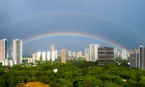 Da minha Janela, arco-íris (From my Window, the rainbow)