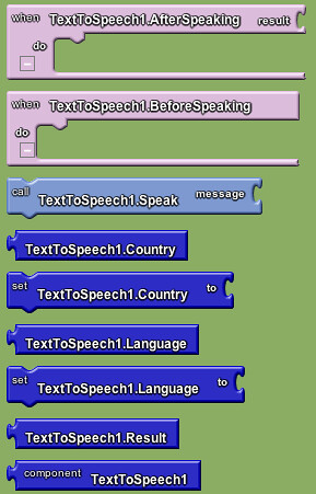 Google app inventor - text to speech