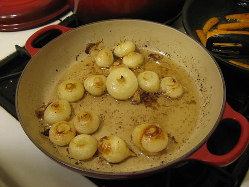 Farm fresh cipollini onions