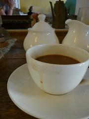 at the tea pot