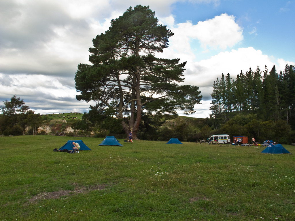 Camp site on the dairy farm