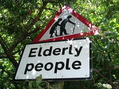 Elderly People - sign on Warwick Road, Olton