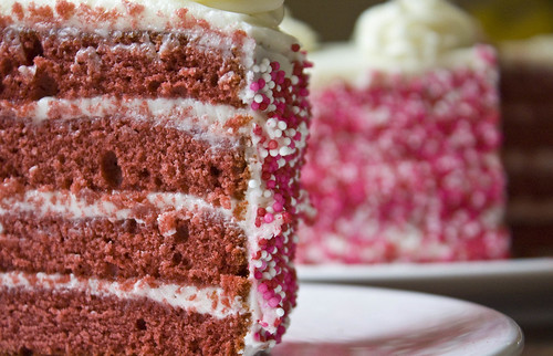 Dark Chocolate Red Velvet Cake
